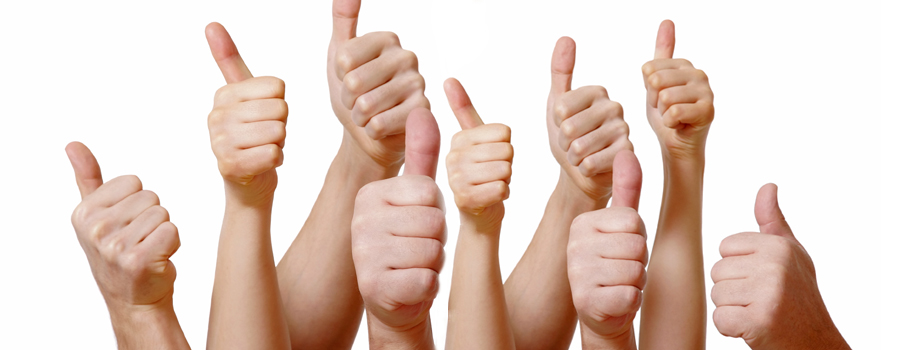 Ministry of Therapy :: Happy and Satisfied Clients. Thumbs Up!