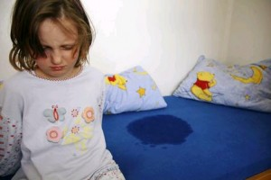 Frustration and embarassment of a bedwetting child