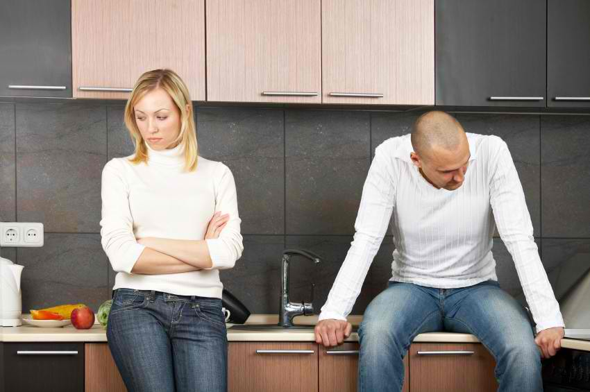 Frustrated and upset couples