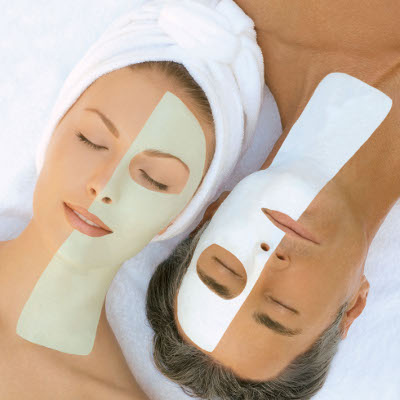 Couple with healthy, youthful skin