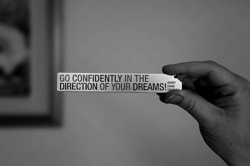 Go confidently in the direction of your goal