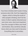On Courage to Pursue Your Dreams by Steve Jobs.