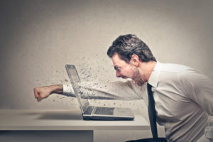 Anger Management - Smashing through a laptop screen
